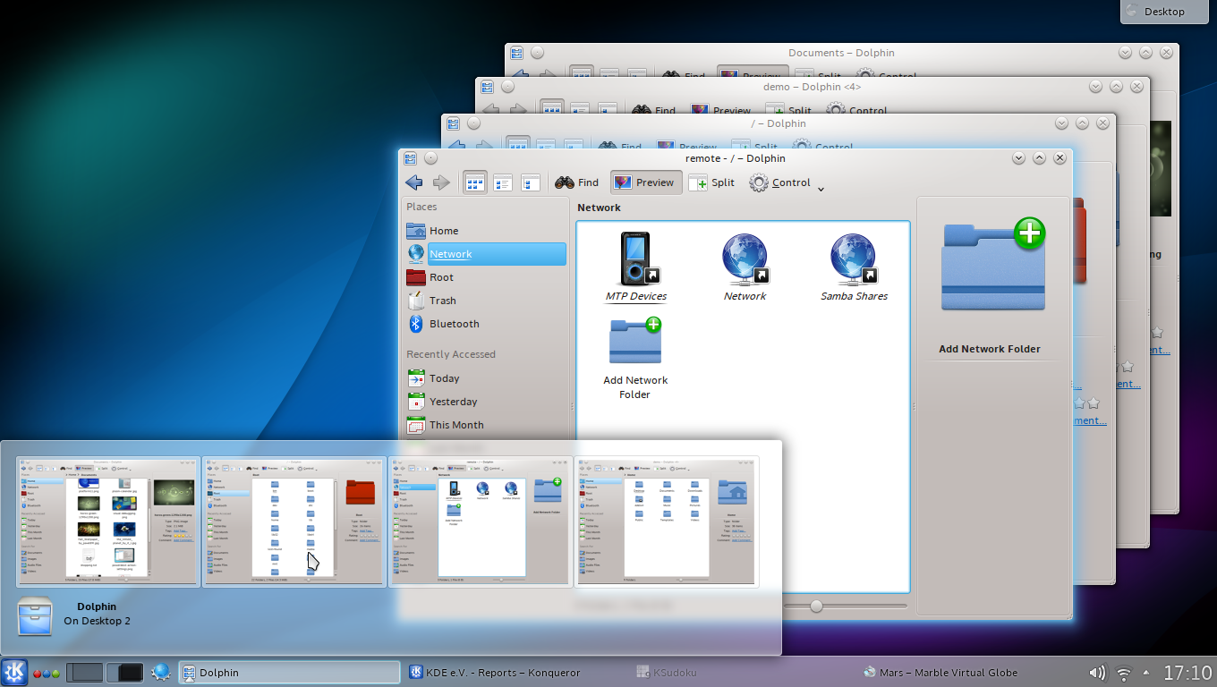 KDE's Dolphin File Manager