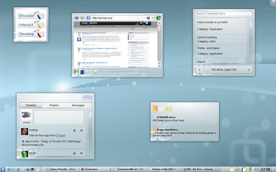 The Web and Social Networks on the Plasma Desktop