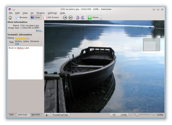 Gwenview 4.8 comes with nicer transitions between images