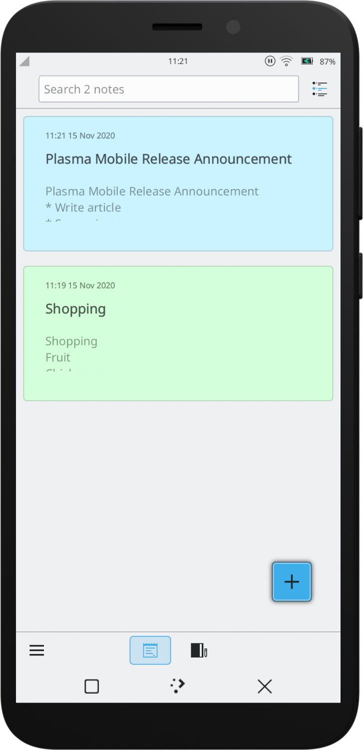 Buho, a note taking application