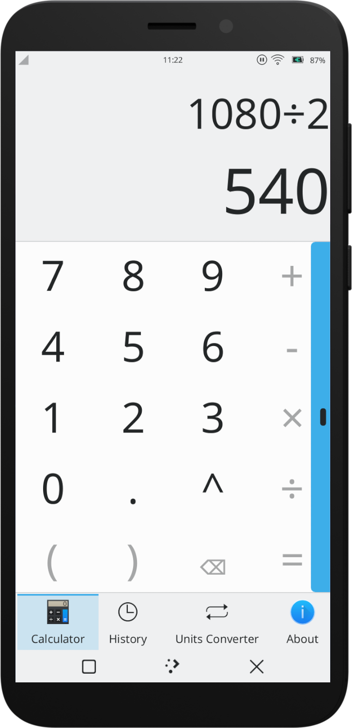Kalk, a calculator application
