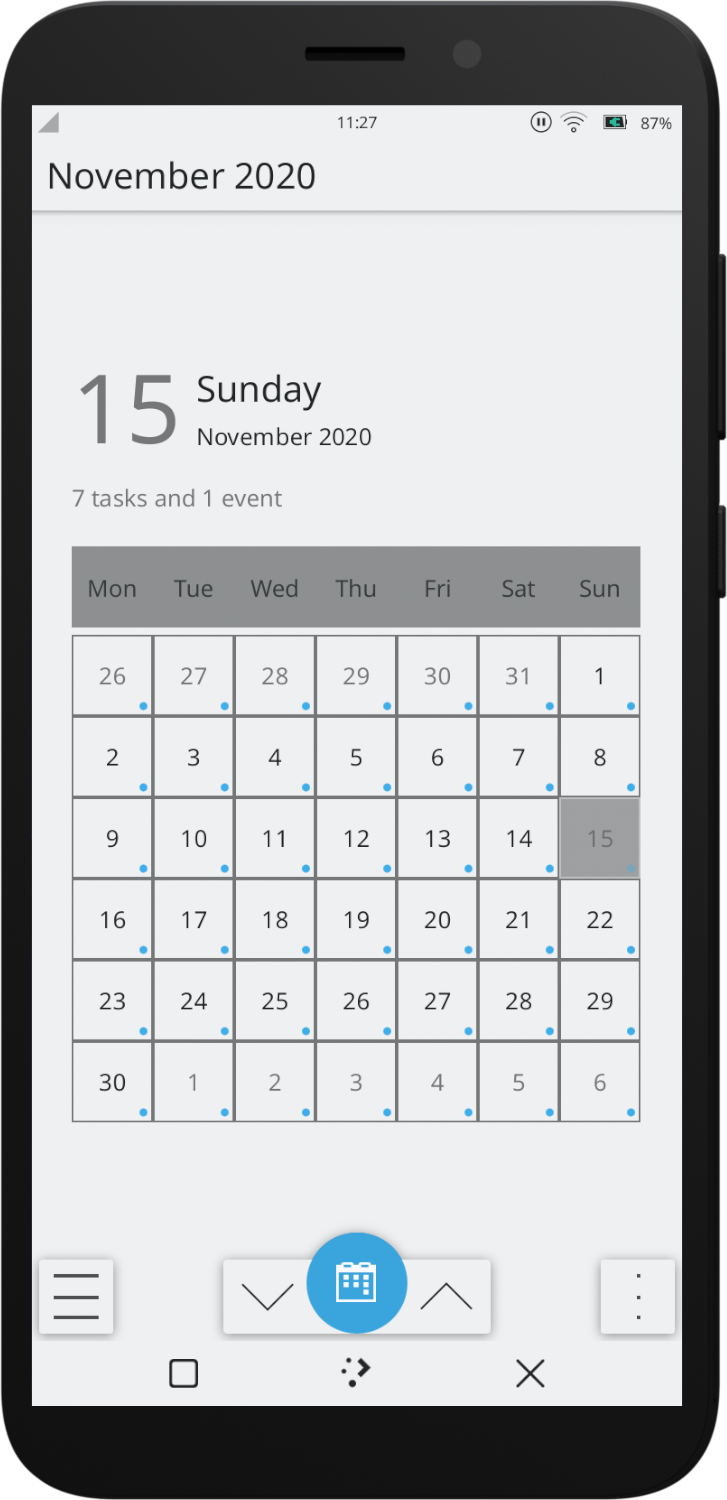 Calindori, a calendar application