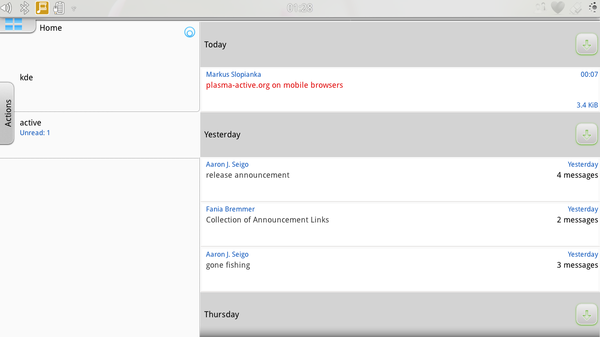 Kontact Touch adds scalable email and groupware to Plasma Active