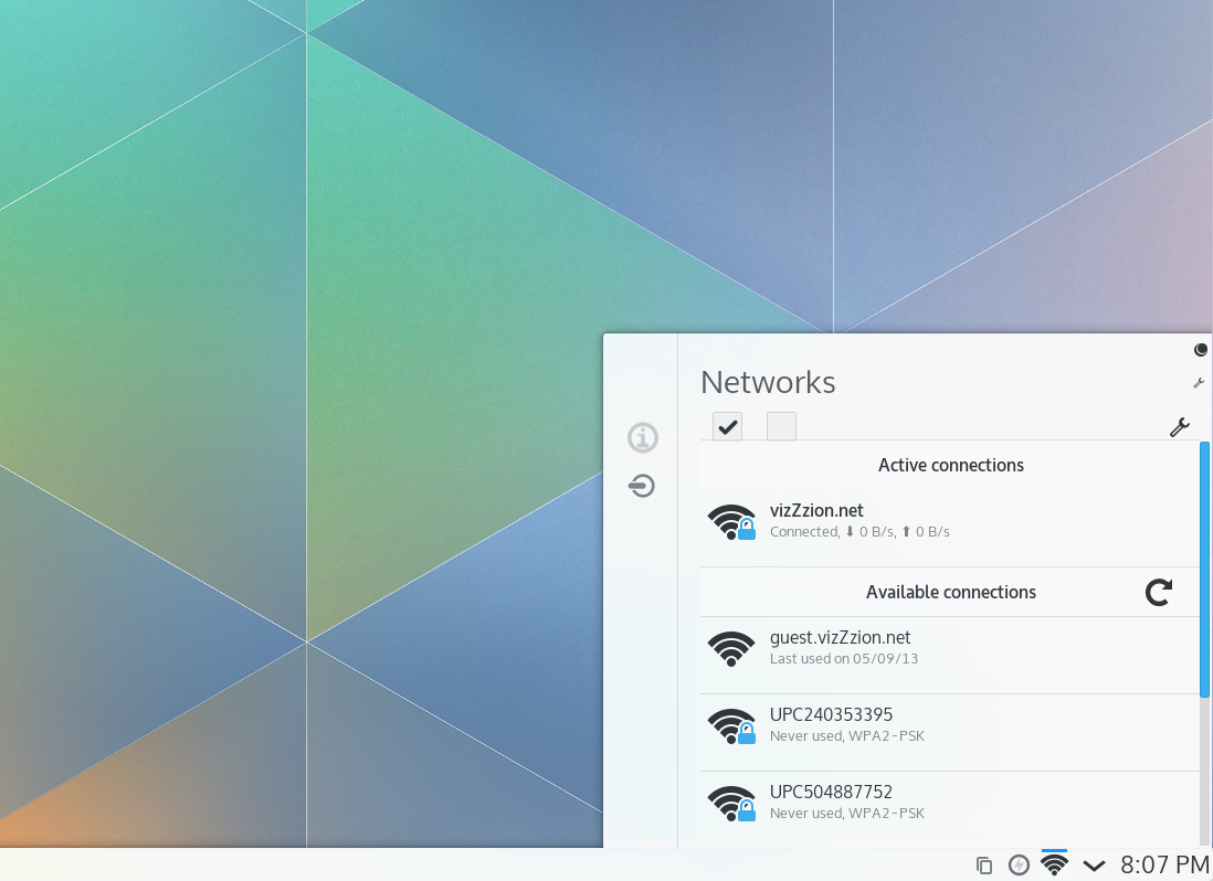 Networking Setup in Plasma 5