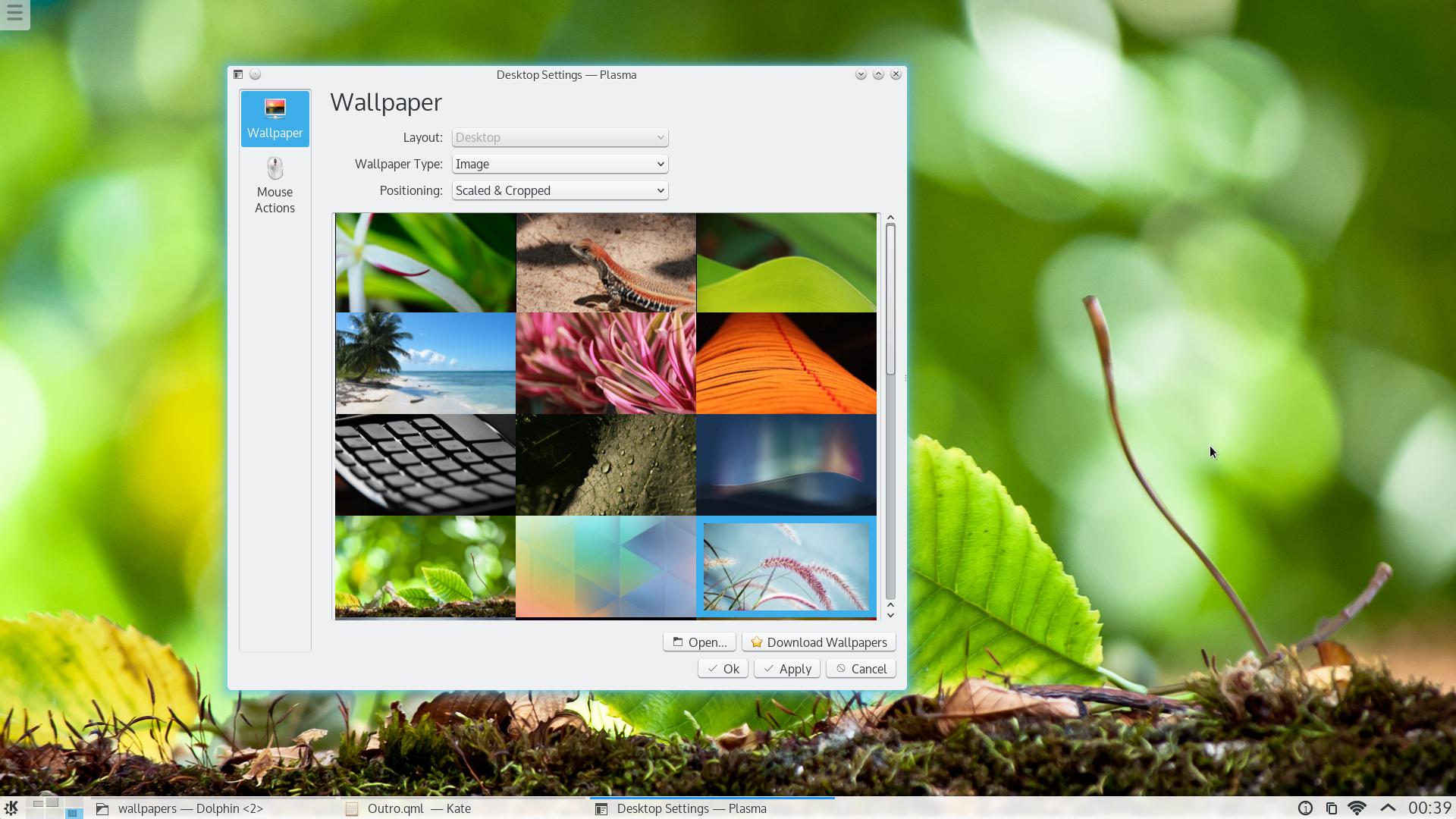 Configuració del fons de pantalla
