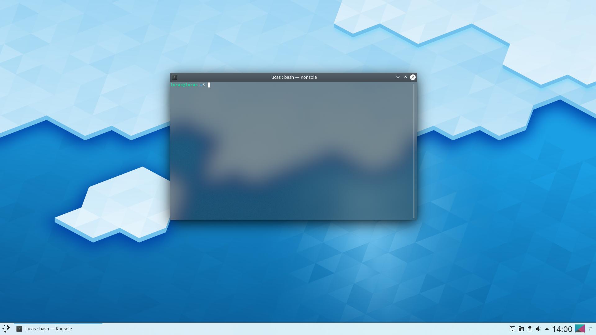 Экран блокировки в Plasma 5.16