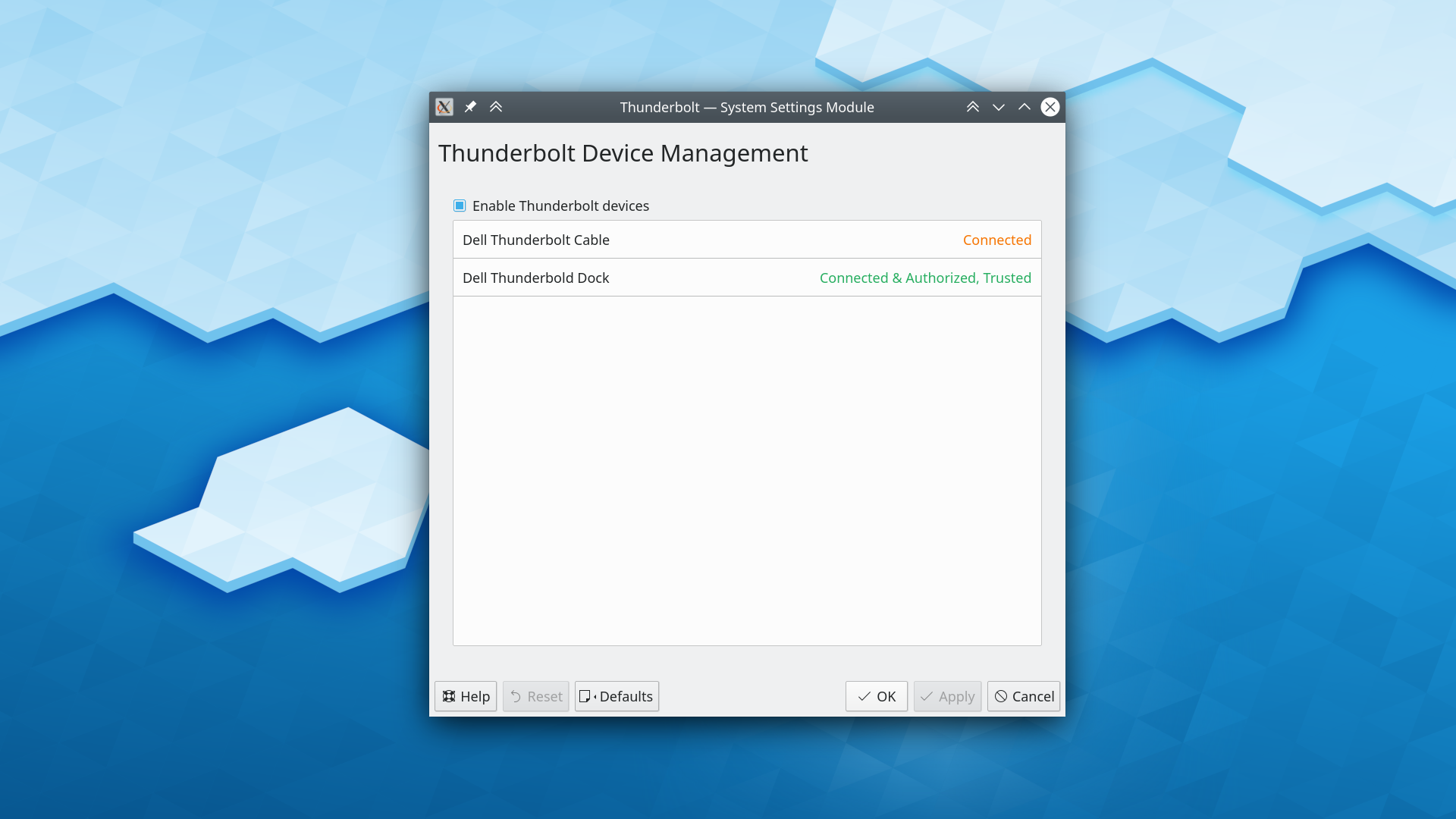 Thunderbolt device management