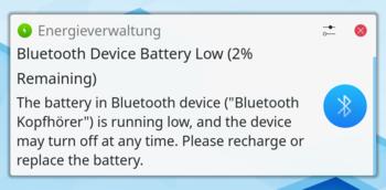 Bateria de Bluetooth Fraca