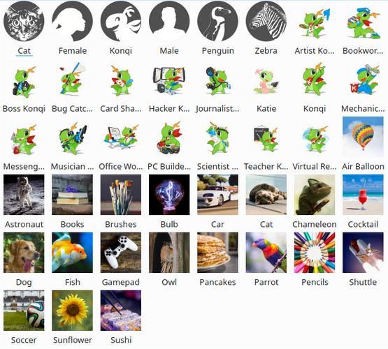 Avatars pour utilisateurs, totalement nouveaux
