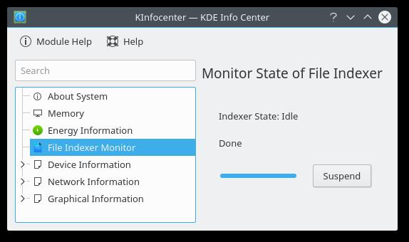 File Indexer Status