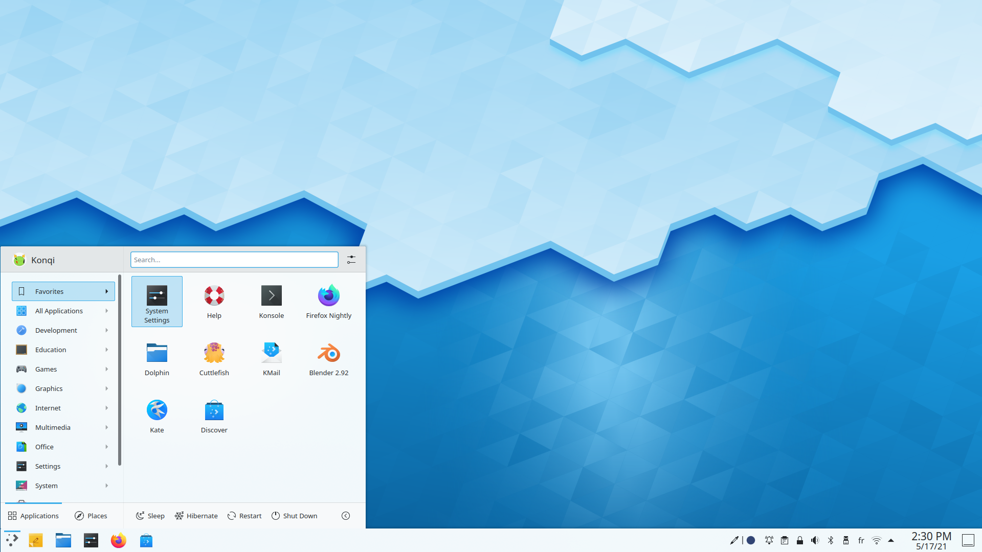Screenshot Plasma with the launcher open